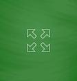 four arrows computer symbol vector image