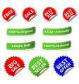 Set of Various Shape Label and Sticker vector image