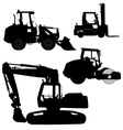 Machinery Set of silhouettes of road service vector image vector image
