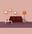 home lounge interior living room furniture with vector image