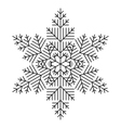 Simple Snowflake vector image vector image