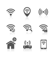 Wireless local network internet access point icons vector