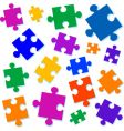 jigsaw pieces illustration vector image