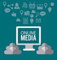 Online media design vector image