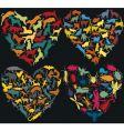 animal hearts vector image