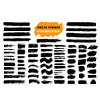 brush strokes text boxes vector image