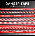do not enter danger security quarantine red and vector image