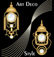 expensive art deco filigree earrings with pearl vector image