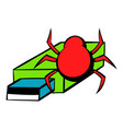 flash drive infected by virus icon cartoon vector image