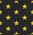 gold glitter stars seamless pattern vector image