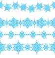 set of seamless Christmas borders vector image vector image