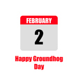 template calendar for groundhog day vector image