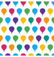 retro seamless travel pattern of balloons vector image