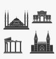 turkey architecture silhouette vector image