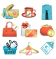 bargain icons vector image