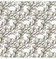 cherry flowers seamless pattern for fabric vector image