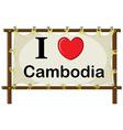 Cambodia vector image vector image