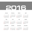 Simple 2016 year calendar vector image