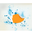 sticker background vector image