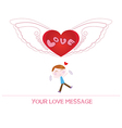 cartoon boy in love vector image vector image