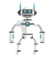 colorful white robot icon vector image