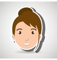 character woman young icon vector image