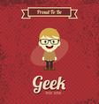 genius geek retro cartoon vector image