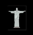 Statue of Jesus Christ in Rio de Janeiro vector image