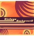 Vintage backgound template vector image