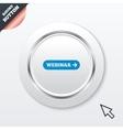 Webinar with arrow sign icon Web study symbol vector image