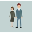 business people - man and woman - dressed in suits vector image