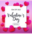 valentines day sale banner in a frame poster vector image