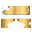 elegant discount gift voucher of gold color leafy vector image