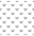 seamless pattern with hipster mustache and glasses vector image vector image