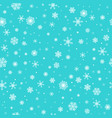 white snowflakes on turquoise background vector image