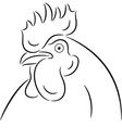 Cock head vector image