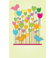 Abstract floral card with copy space vector image vector image