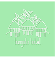 Graphic line art of bungalow hotel vector image