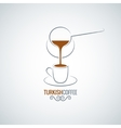 coffee cup turkish recipe background vector image