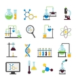 Chemistry Lab Flat Icon Set vector image vector image
