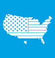 american map icon white vector image