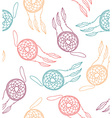 Ethnic seamless pattern with dreamcatcher vector image