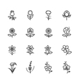 Flower icons vector image
