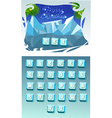 Funny Cartoon shine icy vector image