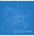 Gears drawing background vector image