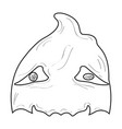 halloween ghost mask vector image