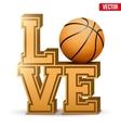 Love basketball inscription vector image
