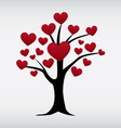 love tree isolated vector image