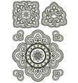 scroll ornament vector image