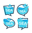 sea time collection of water stickers banners vector image